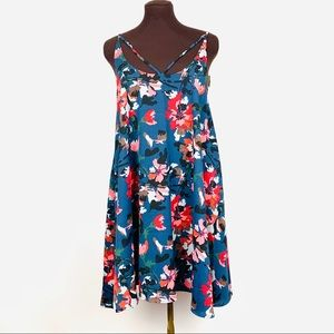 BP Print Strappy Slipdress Blue Twilight XL